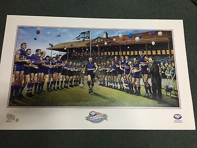 Western Bulldogs Team Of The Century Fine Print Personally Signed Jamie Cooper