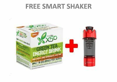 Green Tea X50 Weight Loss Energy Drink - 60 Serves - FREE CYCLONE SHAKER
