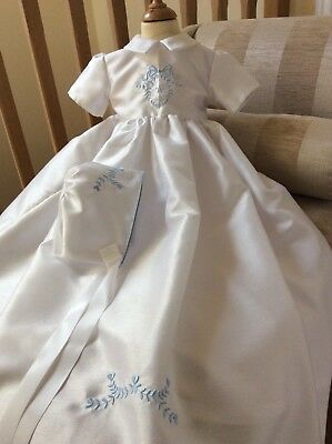 Christening Gown & Bonnet - Heirloom Personalised Baptism Dress - Baby Boy Girl