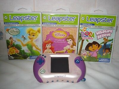 Leapfrog   Leapster   2  Console  with 3 games