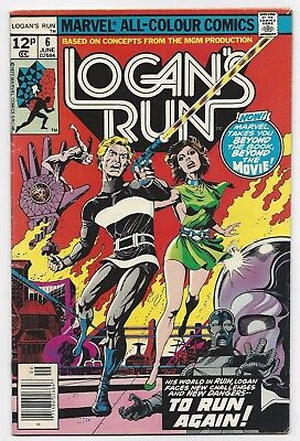 Marvel Comics: Logans Run #6 - 1St Solo Thanos Story (1977)