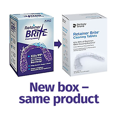 RETAINER BRITE TABLETS.PK20.New.Denture cleaner.NEW PACKAGING...!!!....