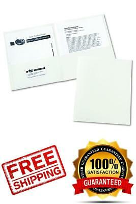 Avery Two-Pocket Folders, White, Box of 25 (47991)