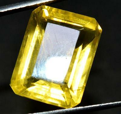 17.85 Ct Natural HELIODOR Yellow Color GGL CERTIFIED EMERALD SHAPE Gemstone