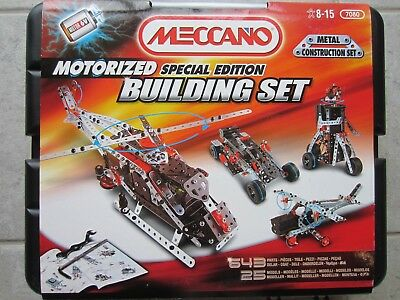 Meccano Motorized Special Ed Building Set 7080 - complete with instructions