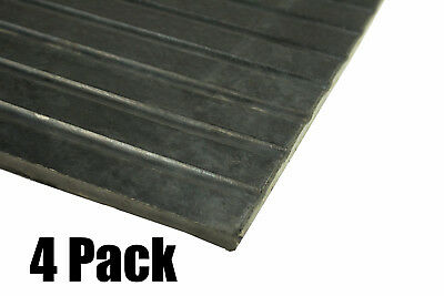 4 Pack Erie Tools 4x6 Black Rubber Anti-Fatigue Floor Mat for Stables, Gyms