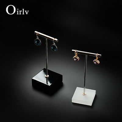 OIRLV ACRYLIC Jewelry Display Earrings Holder Earring Tree Shop