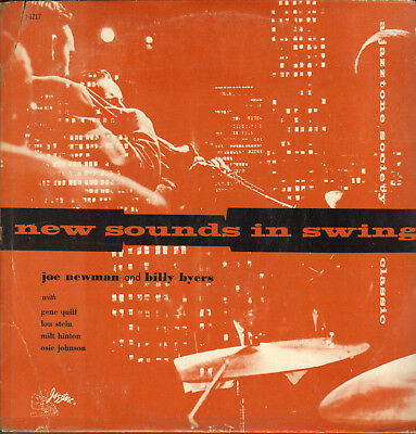 JOE NEWMAN AND BILLY BYERS-LP- NEW SOUNDS IN SWING- ORG. JAZZTONE-1950s-MINT