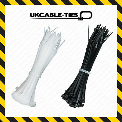 UV / Heat Resistant Cable Ties 100mm 200mm 300mm Nylon Plastic Black Natural