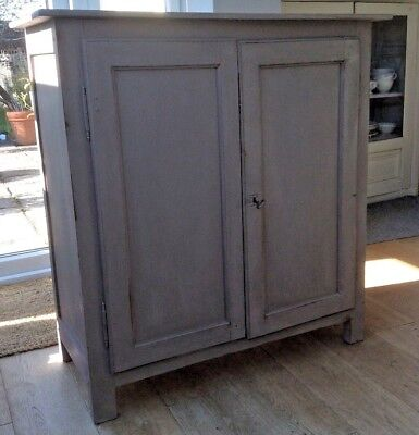Antique French painted cupboard with internal shelves