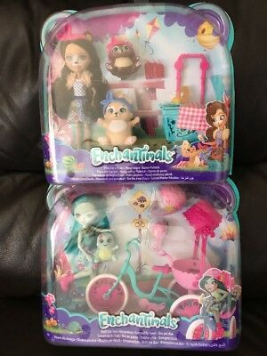 Enchantimals  Paws for a Picnic Doll Set & Built For Two Set - New