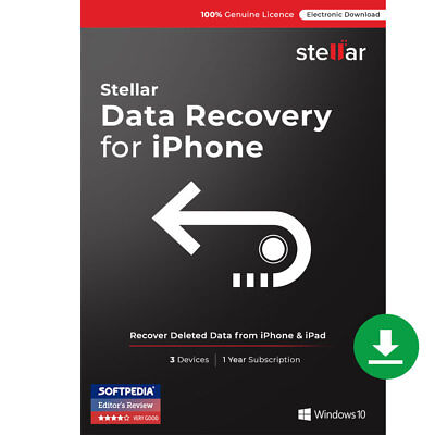 Stellar Data Recovery for iPhone Software Windows Standard Download