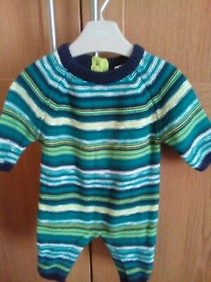 baby boys next all in one up to1month green strip see my other item matching hat