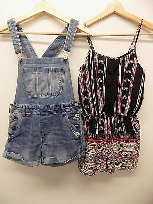 H&M / Primark dungarees / jumpsuit size 12-13 years WORN FEW TIMES      be