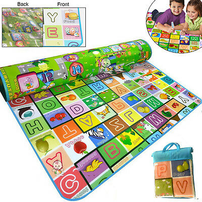 New Large 2 Side Baby Kids Game Crawling Educational Play Mat Soft Foam Carpet