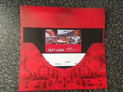 Virgin Experience Days Gift Card - £198 Credit On It