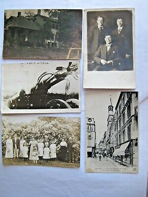 Rppc. Lot Of 5 Early 1900's. Artillery France Family Postcard Free Shipping