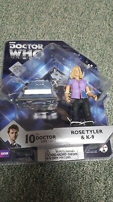 BBC Doctor Who- 10th Doctor- Rose & K9 Figure- Underground Toys
