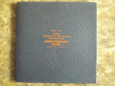 GB 1990 The Penny Black Royal Mail Anniversary Book + stamps : in mint cond