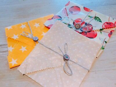 Sandwich Beeswax Food Wrap,Buy 3 Get 1 Free,Large Choice Of Patterns Zero Waste