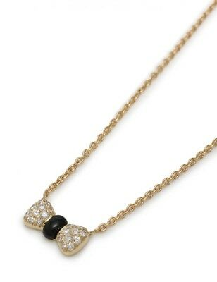 Van Cleef & Arpels Napapillon Necklace Pendant 18K  Diamond  Onyx Yellow Gold