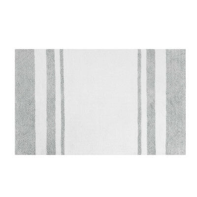 Macys Hotel Collection Bath Rug Colorblock White Charcoal