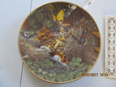 1992 Knowles Tom Thumb Plate issue Classic Fairy Tales Series w/ coa