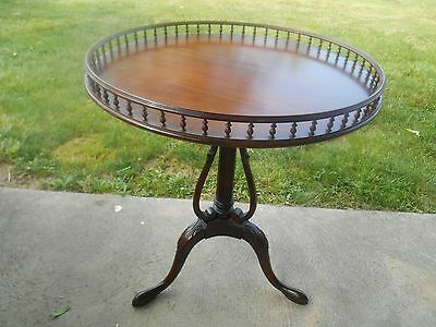 Antique Victorian American Walnut Hand-Carved Round Beaded Top Side Table