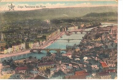 carte postale - Liège - CPA - Panorama des Ponts