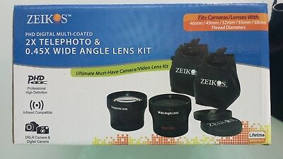 ZEIKOS 2.0 TELEPHOTO LENS 58mm & 0.45x WIDE ANGLE 58mm