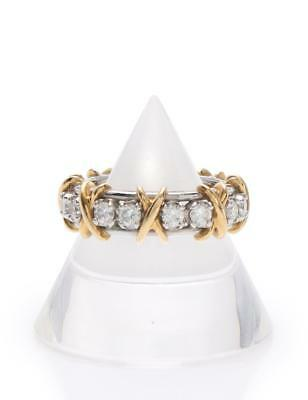Tiffany & Co. 16 Stone Ring ring 18K Yellow Gold Pt 950 Diamond Yellow Gold