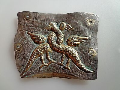 Byzantine Gilt Silver Mount Armor Decoration- C.9th-11th Century AD