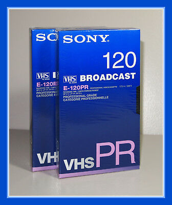 2 cassettes VHS SONY Broadcast 120