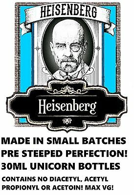 Heisenburg Max VG - Pre Steeped E liquid Juice 0,3,6,12mg nicotine already added