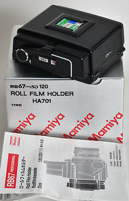 Mamiya RB67 roll film holder complete boxed