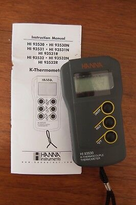 Hi 93530 K- Thermocouple Thermometer
