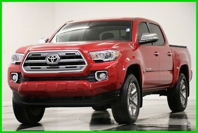 2017 Toyota Tacoma Tacoma 4X4 Limited Sunroof Leather Red Double 4WD Like New Used Heated Seats Metallic 16 18 2016 17 Camera Bluetooth Cab 15K Miles