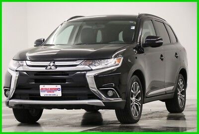 2016 Mitsubishi Outlander SEL AWD Sunroof GPS Leather Black Metallic 2016 SEL AWD  Heated Black Seats Navigation Camera  Used 2.4L I4 16V 4WD SUV
