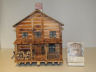 "Vintage Folk Art  ""Canada Chalet"" It's a replica of a Canadian House Very Nice!!"