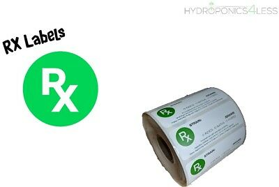 10 to 1000 - RX Medical Labels for Squeeze tops and Pop Tops UK listing