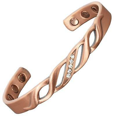 Ladies Copper Magnetic Bracelet Arthritis Joint Bone Pain Healing Bracelet - LD