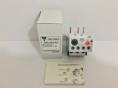 New! Carlo Gavazzi Thermal Overload Relay Cgt-22 Cgt22 12-18 Amp Lg Qty Avail