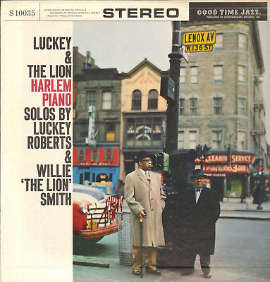"""Luckey Roberts&willie""""the Lion""""smith-Lp- Harlem Piano Solos-Good Time Jazz-1960"""
