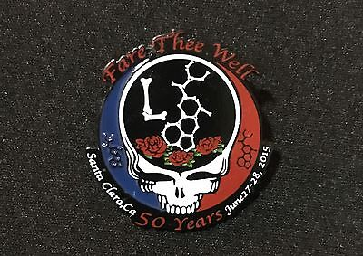 Grateful Dead Fare Thee Well-Santa Clara, CA LSD Molecule Steal Your Face Pin