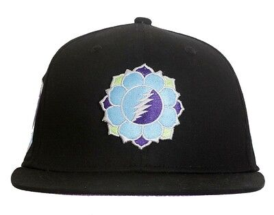 Grateful Dead Flex Fit Hat - Lotus Flower- Size Large - Flat Brim