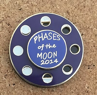 Phases Of The Moon 2014 Festival Pin- Very Special Spinning Pin - Awesome Design