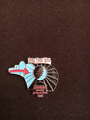 Grateful Dead Fare Thee Well Chicago Zuni Bear Hat Pin 50th Anniversary Shows