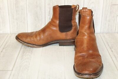 76f5f0f2057 FRYE CHRIS TUMBLED Leather Chelsea Boots, Men's - Size 12 D, Brown (Damaged)