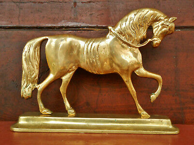 Brass Horse Doorstop Prancing Stallionn Harvin Virginia Metalcrafters Well Cast