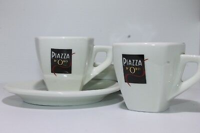 Espresso Cup Breakfast Tea Coffee Mug Ceramic Glass and Plate White Hot